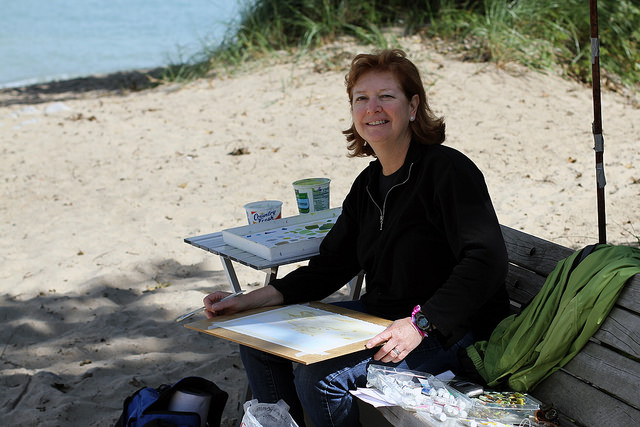 Local artist finds inspiration at Indiana Dunes